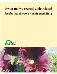 Kwiat malwy czarnej z kielichami herbatka ziołowa