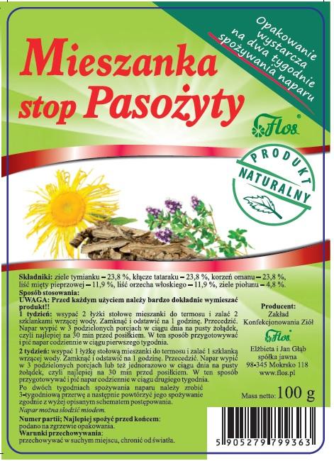 Mieszanka zioła na pasożyty